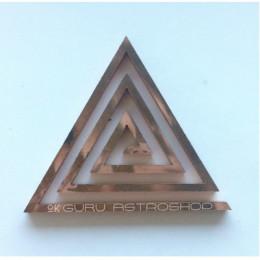 Спираль для коррекции Васту (треугольник, медь)