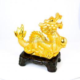 Фигурка на подставке Дракон Золотой