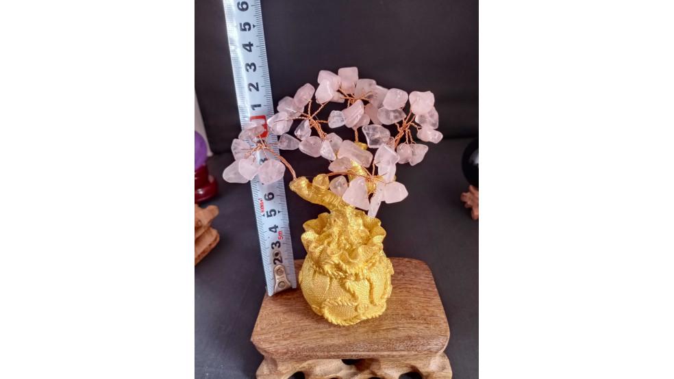 Дерево с Розовым Кварцом для гармонии и самореализации