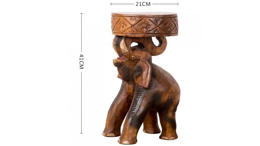 Резной стул-подставка Слон