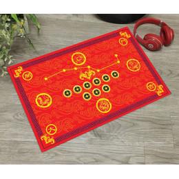 Красный коврик большой