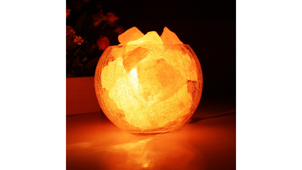 Лампа хрустальная с гималайской солью