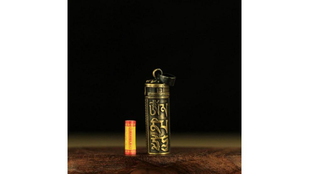 Талисман-подвеска с Шурангама Мантрой для Защиты, бронза