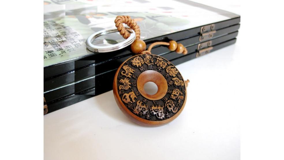 Персиковый брелок 12 знаков зодиака