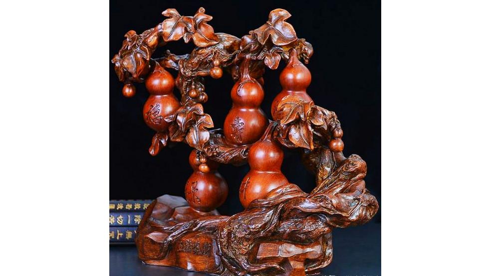Тыквы Ву Лу на дереве